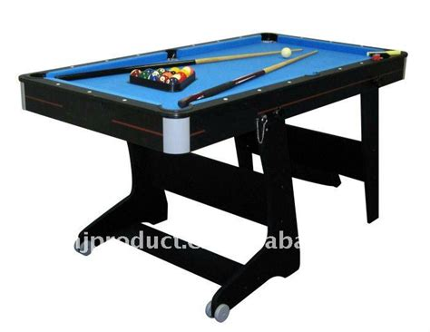folding pool table 7ft 4ft 5ft 6ft 7ft easy store and moving fold up leg pool