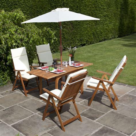 billyoh 4 seater reclining chair set wooden garden