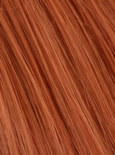 ponytail wrap copper red