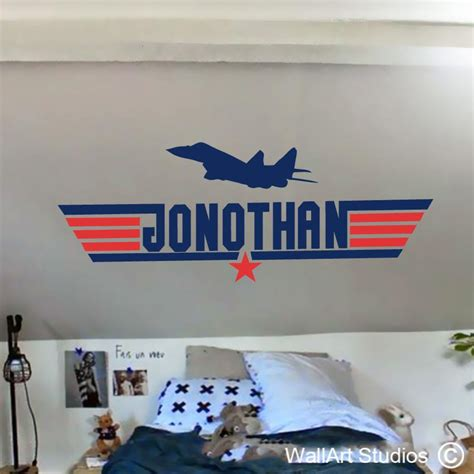 Top Gun Fighter Jet Vinyl Sticker