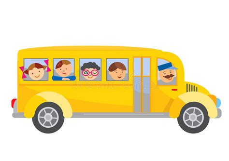 school bus cartoon stock vector illustration  passenger