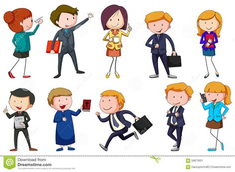 Different Type Of Occupations Stock Illustration