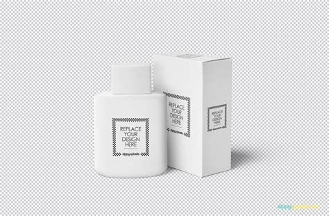 Metallized plastic bottle mockup in bottle mockups on yellow images object mockups. Free Realistic Cosmetic Bottle Mockup | ZippyPixels