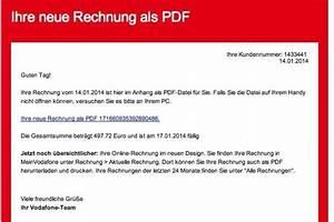 Www Vodafon De Rechnung : trojaner angriff falsche rechnungen von vodafone im umlauf die welt ~ Themetempest.com Abrechnung