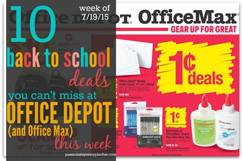 Office Depot Coupons July 2015 by 10 Deals You Can T Miss At Office Depot This Week