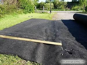 Bache Géotextile Pour Gravier : membrane g otextile installer une toile de paillage au jardin ~ Dode.kayakingforconservation.com Idées de Décoration