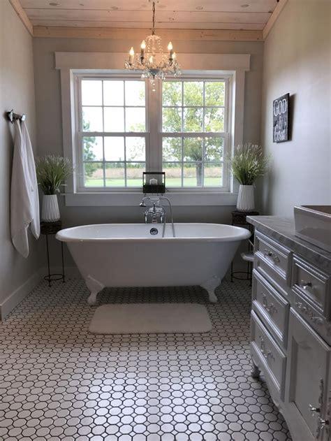 farmhouse bathroom claw foot tub french country bath