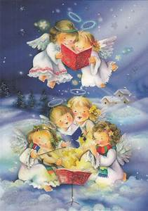 New single Christmas card, angels, singing, cute | eBay ...