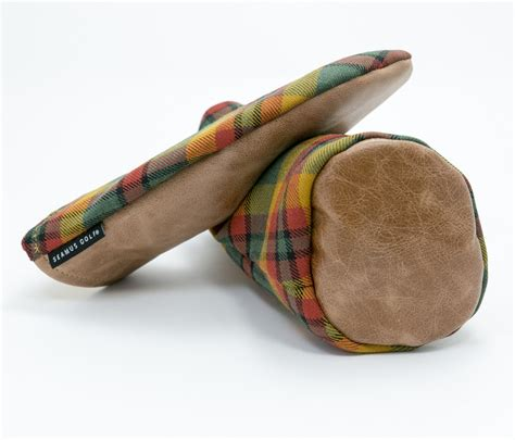 leather monogrammed county londonderry tartan head covers