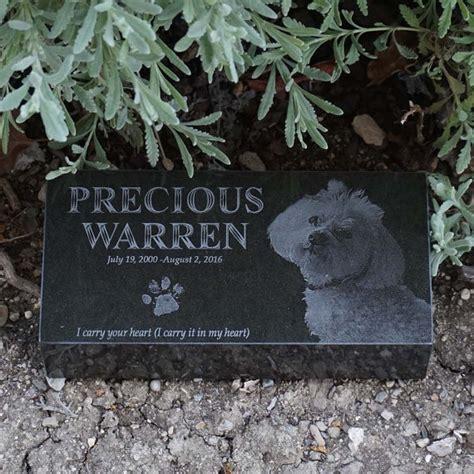 granite pet memorial brick engraved pet marker custom