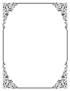 elegant border frame clipart panda  clipart images