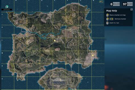 pubg erangel map explained size  start locations