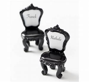 Chaise Baroque Noir : le porte nom chaise baroque noire ~ Teatrodelosmanantiales.com Idées de Décoration