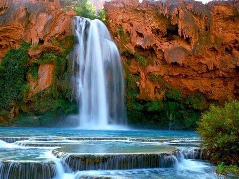 havasu falls havasupai arizona   desktop hd wallpaper