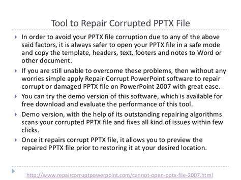 fix  corrupt powerpoint  pptx file  refuses