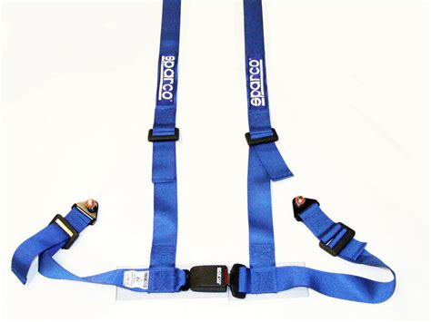 seat belt sparco sparco racing 4 point bolt in 2 quot seat belt harness blue ebay