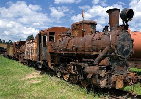 rusty train old rusty steam locomotive stock photo colourbox