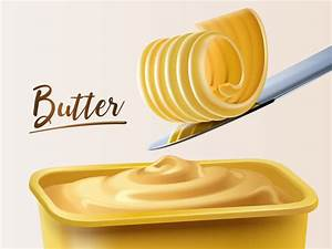 Butter illustration vector material 02 free download