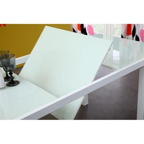 porte de bureau en verre roma table extensible 120 180cm verre blanc achat vente