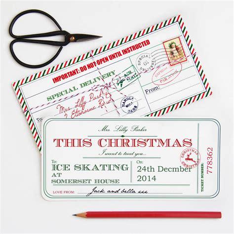 personalised christmas ticket by velvet ribbon