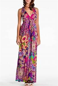 robe longue d39ete imprimee boheme hippie chic rene derhy With robe longue rené derhy