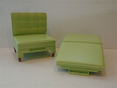 vintage green chair and ottoman converts to bed clb 968