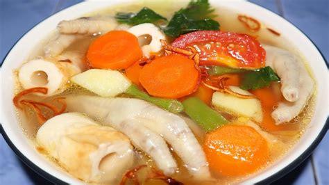 Berbicara mengenai sayur sop dengan ceker ayam, yuk kita buat sendiri sop ceker ini di rumah. Cara Membuat Sayur Sop Ceker Ayam Enak - YouTube