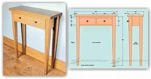 Hall Table Plans • WoodArchivist