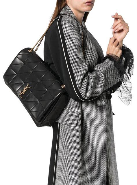saint laurent jamie monogram ysl giant full flap chain black lambskin leather shoulder bag tradesy