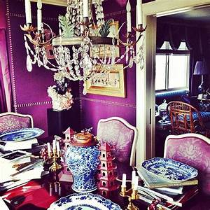 Purple Opulent Dining Interiors By Color