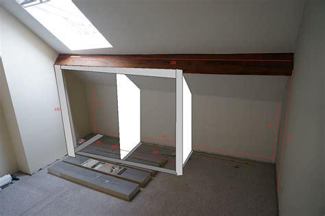 rangement placard chambre placard chambre sous pente