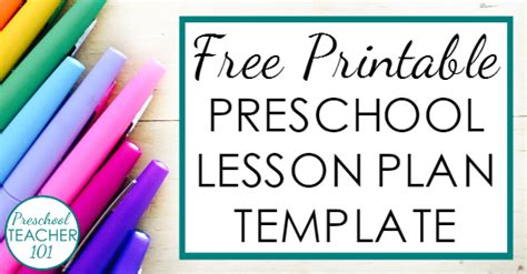preschool lesson plan template  weekly planning