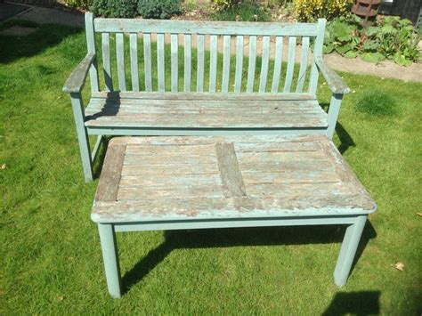 Garden Bench with Table , Shabby Chic in Maidstone - Sold