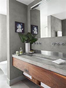Salle De Bain Beton Cire : 36 floating vanities for stylish modern bathrooms digsdigs ~ Dailycaller-alerts.com Idées de Décoration