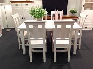 Tischgruppe 7teilig Esstisch 6 Sthle Kiefer Massiv