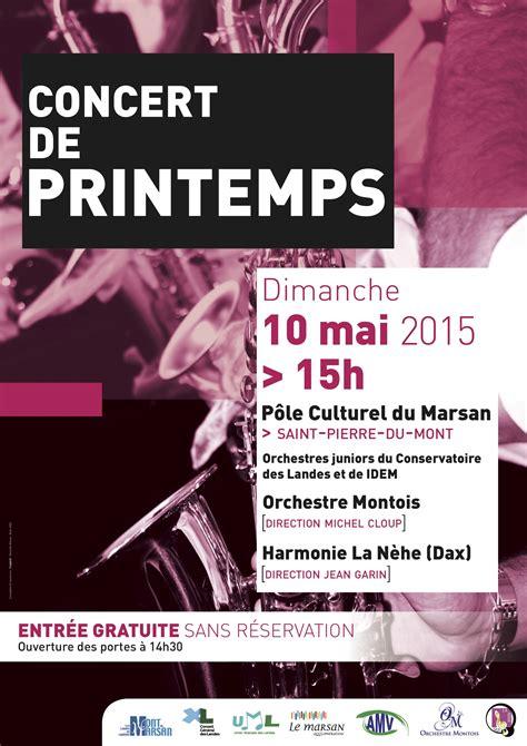 bureau de poste mont de marsan affiche du concert de printemps 2015 orchestre montois