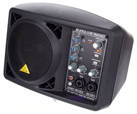 behringer b205d portable active monitor pa speaker