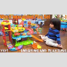 Family Toy Review Channel Vtech Go Go Smart Wheels Park & Learn Deluxe Garage Playset Unboxing
