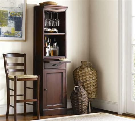 pottery barn wine cabinet modular bar with cabinet tower pottery barn