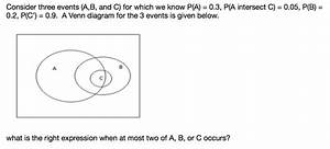 Solved  Consider Three Events  A B  And C  For Which We Kn