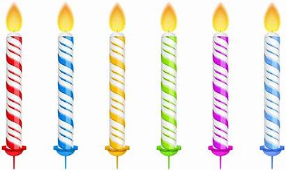 Candles Birthday Transparent Clipart Clip Number Happy