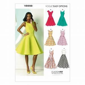 Vogue Misses' Dress Pattern V8998 Size A5 - Discount
