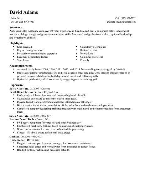 Tips For Writing A Great Cover Letter Sales Associate Resume Exles Customer Service Resume Exles Livecareer
