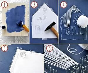 Wie Finanziert Man Ein Haus : wie macht man string art ein haus zum geburtstag diy fadenbilder string art pinterest ~ Markanthonyermac.com Haus und Dekorationen