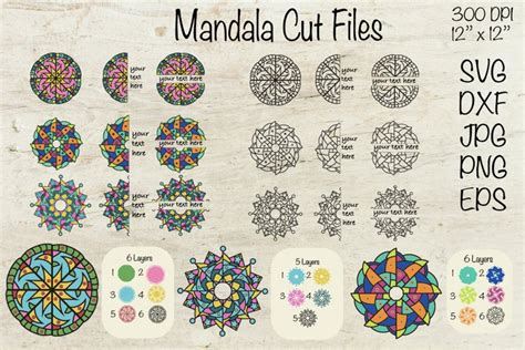 We have a huge range of svgs products available. 3D Mandala Alphabet Svg Design - Free Layered SVG Files