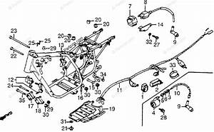 Honda Atv 1985 Oem Parts Diagram For Frame    Wire Harness