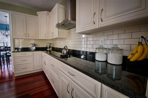 backsplash for black and white kitchen beautiful kitchen white cabinets black granite subway tile backsplash with dark grout