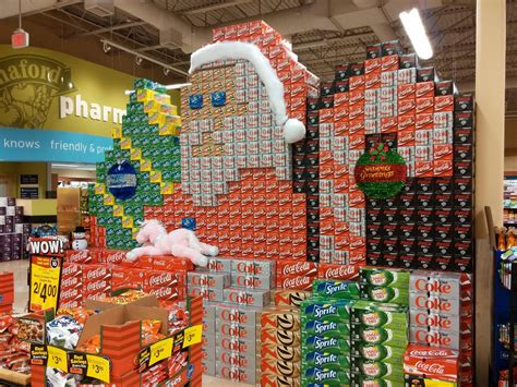coca cola christmas display   local grocery store pics