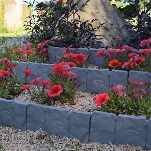 Bordure De Jardin : bordure de jardin imitation pierre lot de 10 outils et ~ Melissatoandfro.com Idées de Décoration