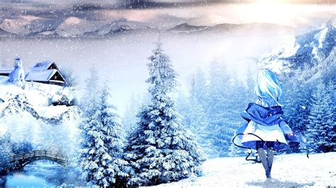 Anime Winter Scenery Wallpaper - anime winter scenery wallpaper